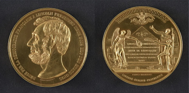 Medal from the French Medal Committee issued to Mary Todd Lincoln.