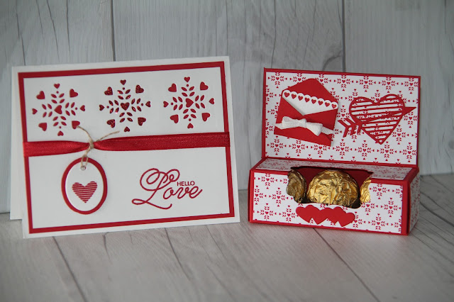 Valentine's Day Treat Box and matching card.