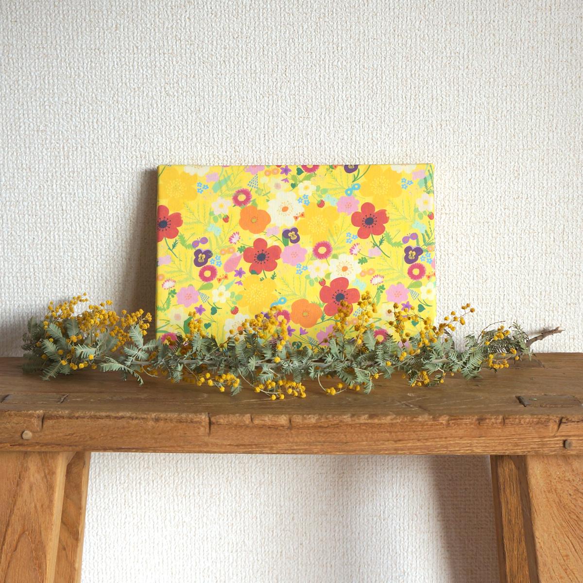 新作ファブリックパネル「happy garden」5色出来上がりました☆彡
