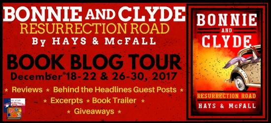 Bonnie and Clyde: Resurrection Road blog tour banner