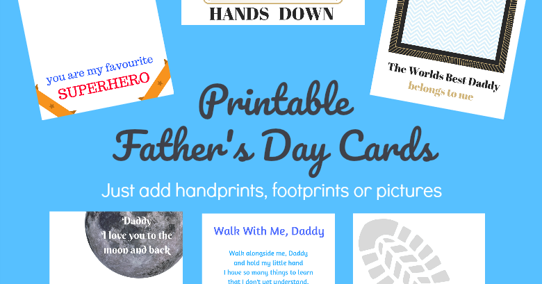 photograph regarding Hands Down You're the Best Printable referred to as Printable Fathers Working day Playing cards - Simply just insert handprints and