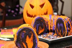 Amazing Halloween Rainbow Party Bundt Cake