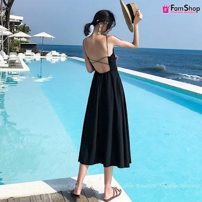 Váy maxi đi biển V440