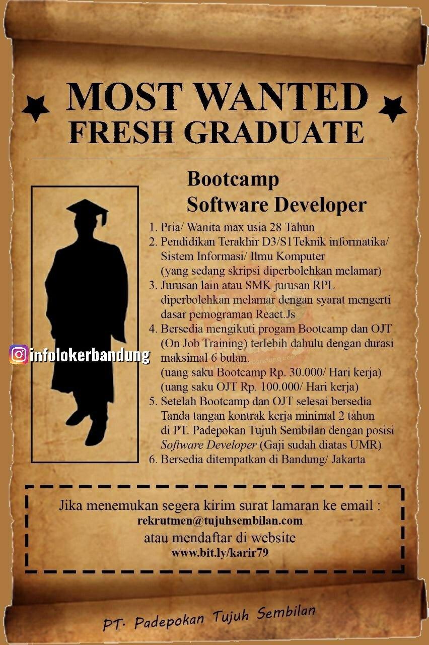 Most Wanted Fresh Graduate PT. Padepokan Tujuh Sembilan Bandung Februari 2020