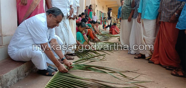 News, Kerala, Kalolsavam, NSS, Old students, Inauguration, MLA, Revenue Dist School Kalotsavam: Box making using coconut leaf, Competition conducted