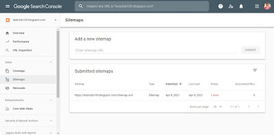 How to submit a blogger blog (website) xml sitemap to google search console