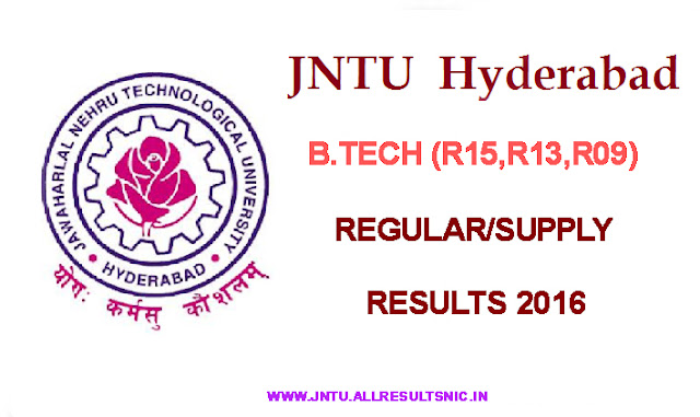 jntuh 1st year results 2016