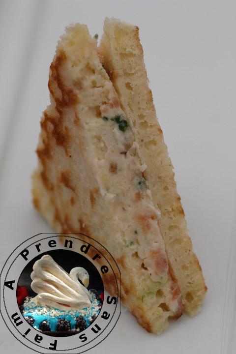 Blinis triangle au saumon fumé