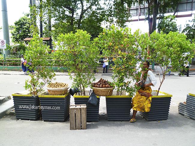 Vendedor ambulante de fruta en Yakarta