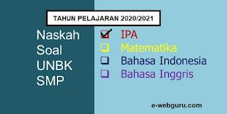 soal ujian nasional IPA SMP