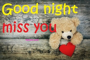 miss you good night