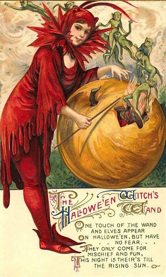 Старинные открытки в честь Хэллоуина - 08