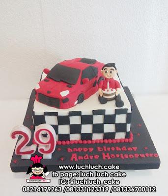 Kue Tart Mobil Fondant 3d Cake