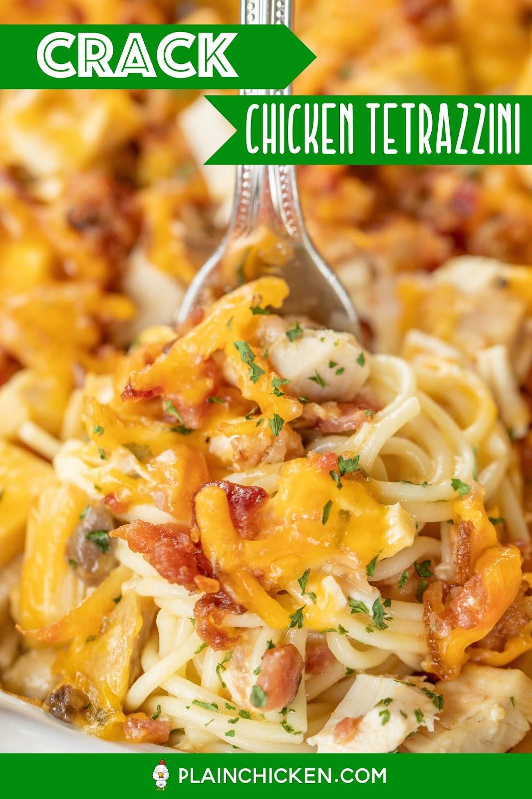 chicken spaghetti in baking dish