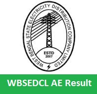 WBSEDCL AE Result