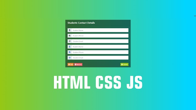 Design Animated Students Contact Details | HTML CSS JS