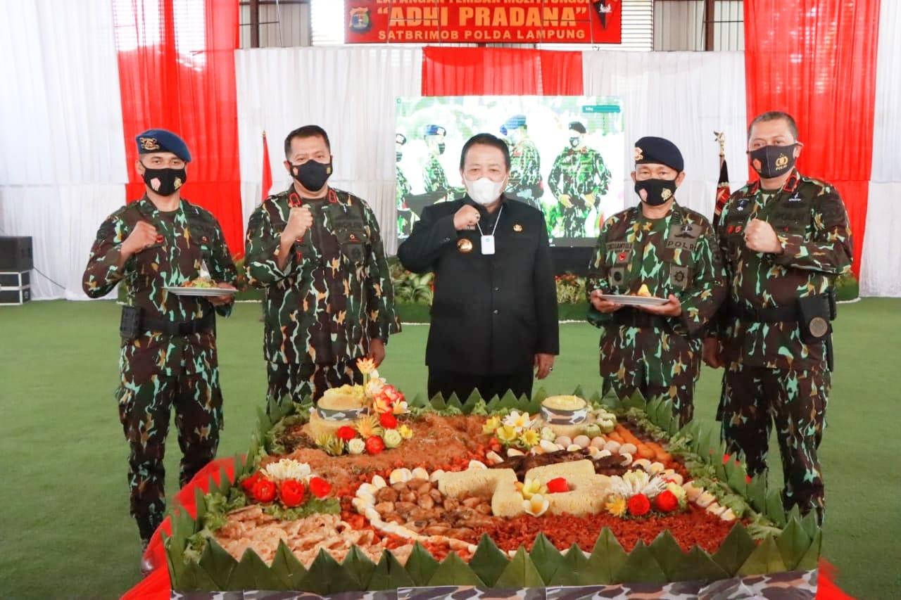 Hadiri Syukuran HUT ke 75 Brimob, Gubernur Lampung sampaikan Selamat