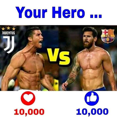 Your Hero?????????????????? #CR7 or #LM10
