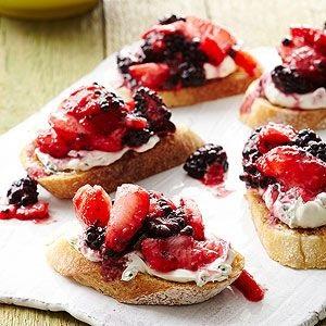 Fresh Berry Bruschetta