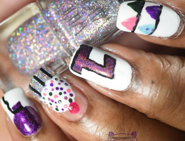 1 Year Blogaversary Nails