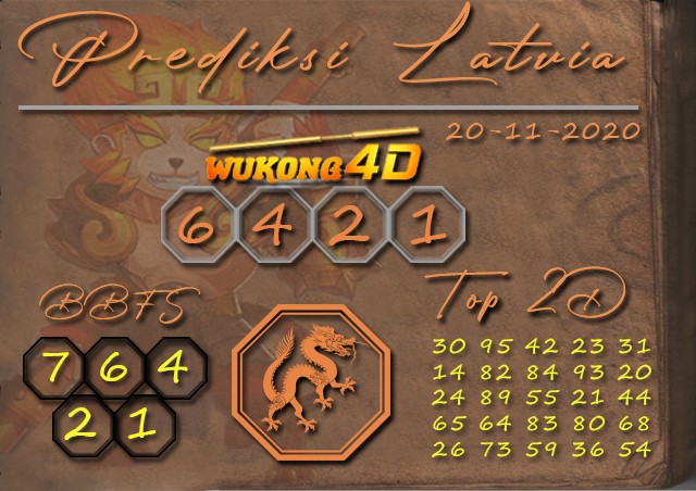PREDIKSI TOGEL LATVIA WUKONG4D 20 NOVEMBER 2020