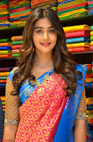 Puja Hegde looks stunning in Red saree at launch of Anutex shopping mall ~ Celebrities Galleries 010.JPG