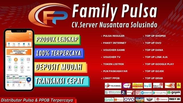 Web Resmi Family Pulsa Murah CV Server Nusantara Solusindo