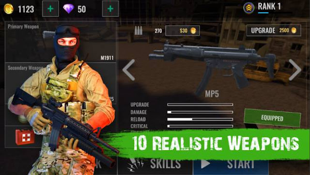 Game Fps Zombie Offline Zombie Shooter Hell 4 Survival MOD APK