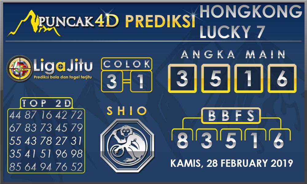 Prediksi Togel HONGKONG LUCKY7 PUNCAK4D 28 FEBRUARY 2019