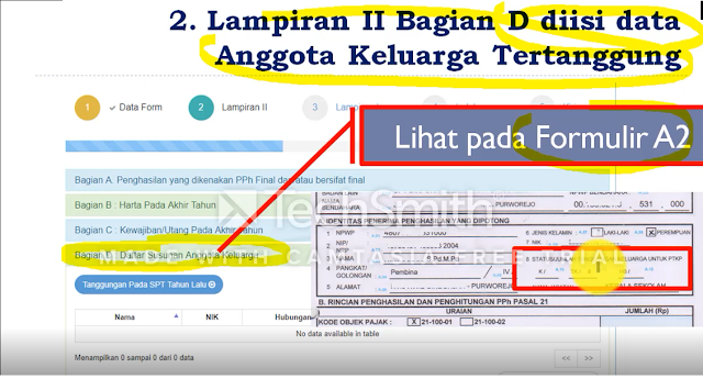 data anggota tertanggung pada laporan spt pajak