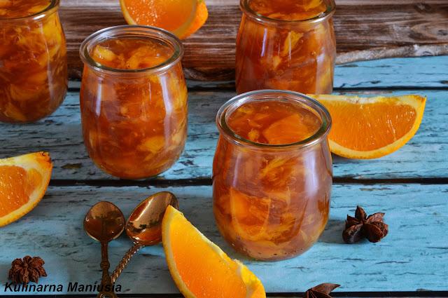 Herbaciany kisiel pomarańczowy