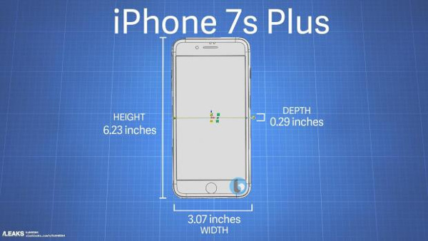Dimensions of iPhone 7S and the iPhone 7S Plus