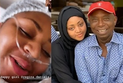 Actress Regina Daniels Welcomes First Child With Her Husband, A Baby Boy