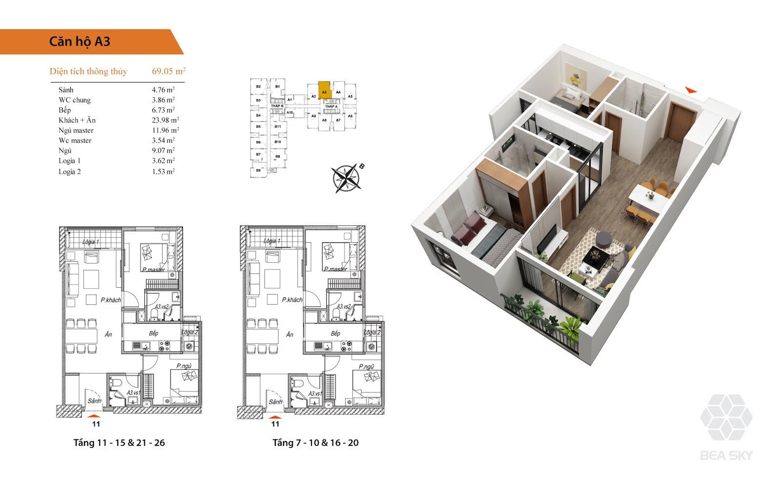 Thiết kế căn hộ Beasky