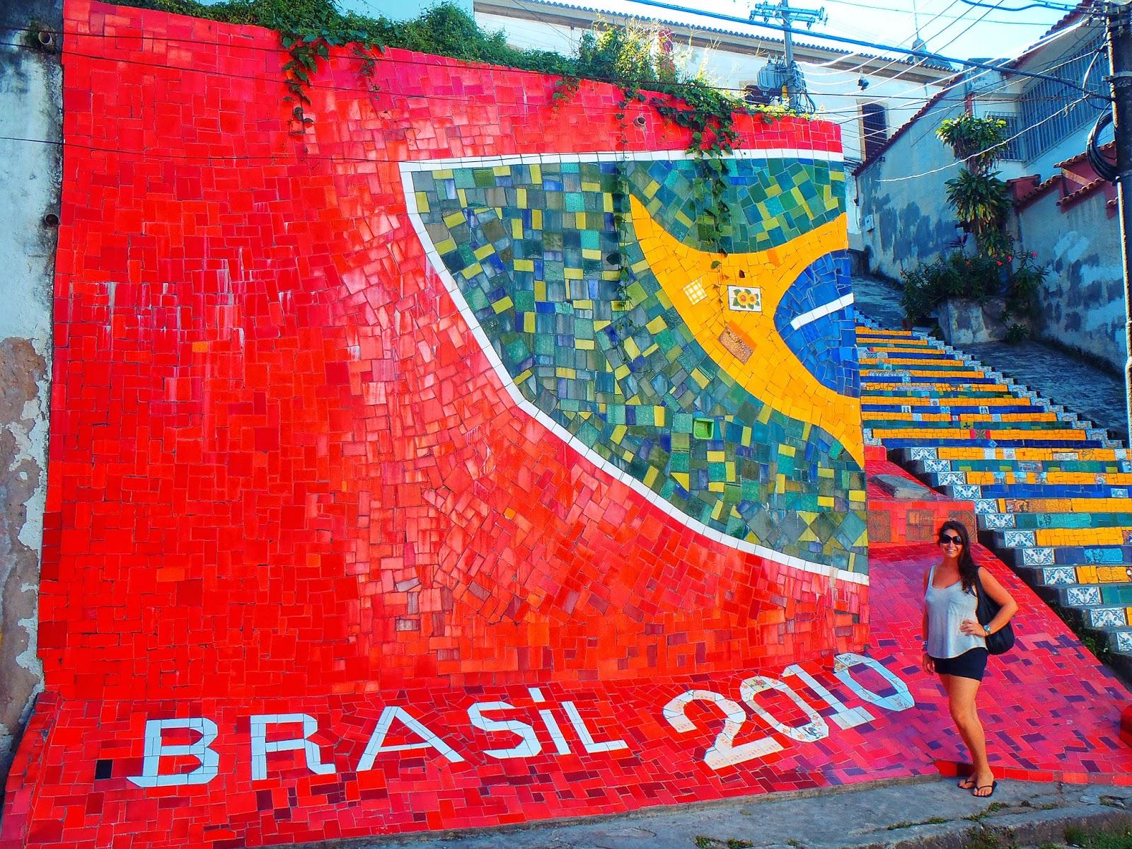 Girl at Escadaria Selaron Rio de Janeiro