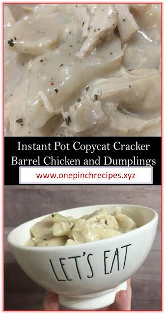 Instant Pot Copycat Cracker Barrel Chicken and Dumplings #InstantPot #Copycat #Cracker #Barrel #Chicken and #Dumplings #InstantPotCopycatCrackerBarrelChickenandDumplings Instant Pot Copycat Cracker Barrel Chicken and Dumplings
