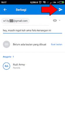 cara membagikan file di dropbox android