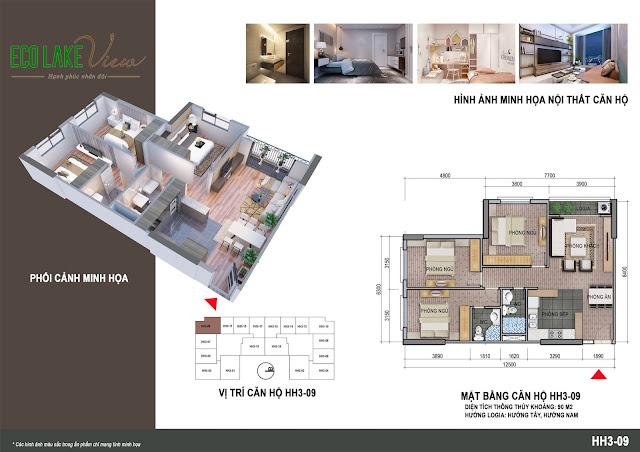 Thiết kế căn hộ 05 tòa HH03 Eco Lake View