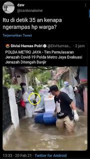 Viral Disosmed, Video Divhumas Polri, Netizen: Kenapa Ngerampas HP Warga?