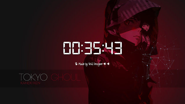 Tokyo Ghoul V2 With (Play/Pause/Volume) Buttons Wallpaper Engine