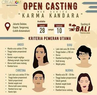 info open casting project drama webseries di jakarta bali