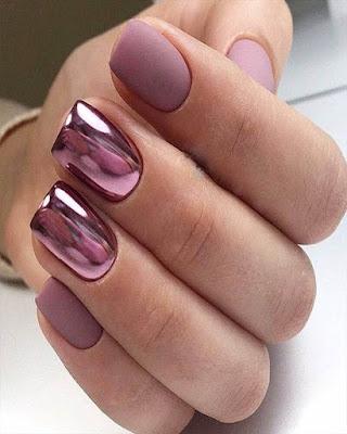 Uñas gelish espejo rosadas