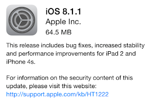 Apple iOS 8.1.1