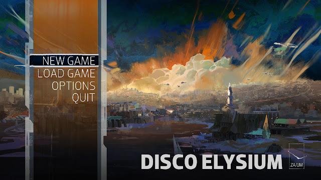 Disco Elysium menu screen