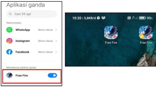 Cara Menggandakan Aplikasi Game FF