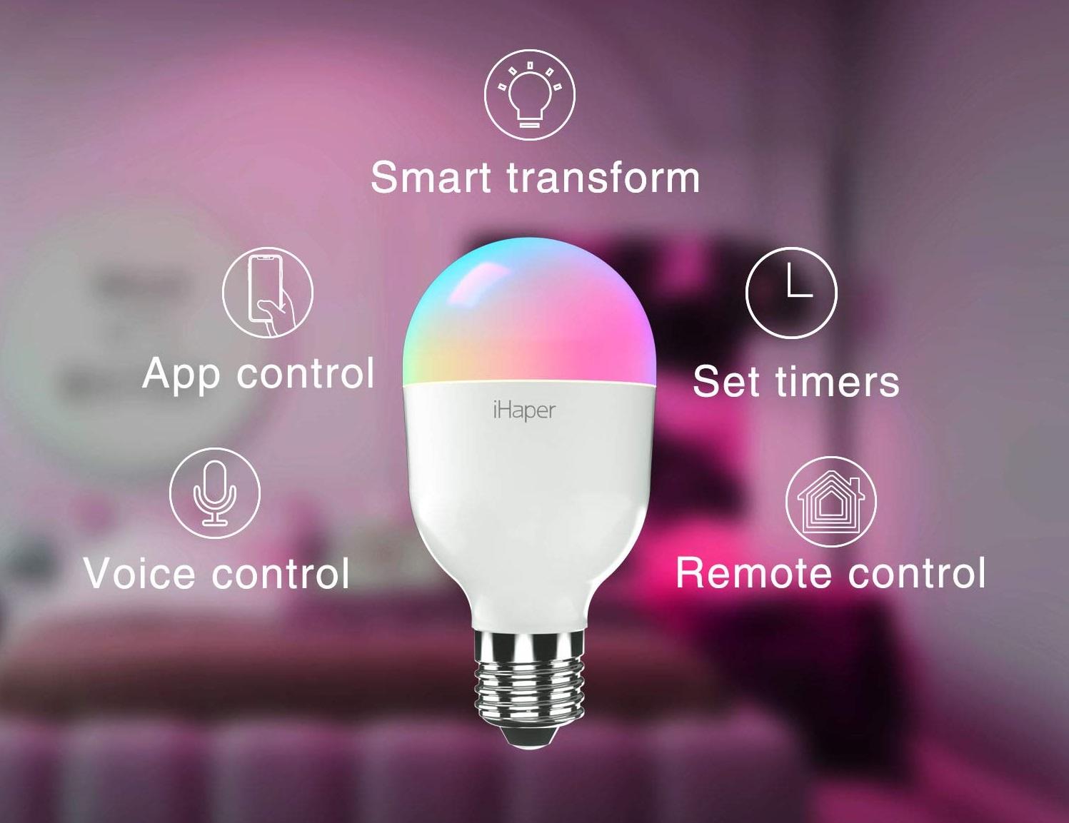 Ihaper lampadina smart e27 compatibile con apple homekit