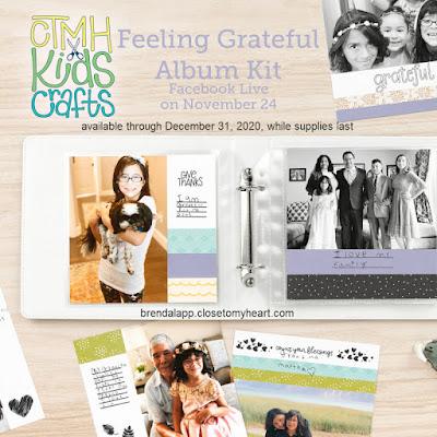 CTMH Kids Crafts–Feeling Grateful Album Kit