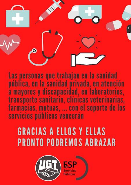 Aplauso y agradecimiento a empleados públicos por coronavirus, lucha contra el coronavirus, FeSP-UGT Ceuta, Blog de Enseñanza-UGT Ceuta, UGT Ceuta