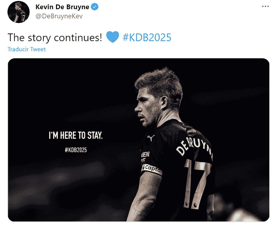 El belga Kevin De Bruyne renovó con el Manchester City hasta 2025