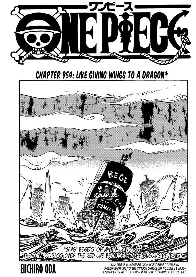 One Piece Manga Chapter 954 - Image 001